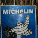Carteles: (M) CHAPA LITOGRAFIADA METALICA - MICHELIN ( BIBENDUM ) M CASTELLANA MADRID 1966. Lote 159113494