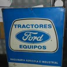 Carteles: (M) CHAPA LITOGRAFICA TRACTORES FORD EQUIPOS MAQUINARIA AGRICOLA E INDUSTRIAL ,G DE ANDREIS BADALONA. Lote 159114362