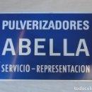 Carteles: CHAPA PULVERIZADORES ABELLA.. Lote 160812170