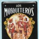 Carteles: CHAPA PUBLICITARIA - LOS MOSQUETEROS - VINO MALAGA - 17,5 CM. X 12,5 CM.. Lote 160869150