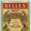 Carteles: CHAPA PUBLICITARIA - SELLES VINO VERMOUTH DULCE - 17,5 CM. X 12,5 CM.. Lote 160869970