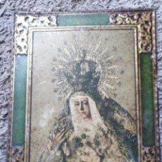 Cartazes: ANTIGUA CHAPA DE LA ESPERANZA MACARENA-LITOGRAFÍA DE LA CASA M. NAVARRO GAUTIER-AÑOS 50. Lote 161581794