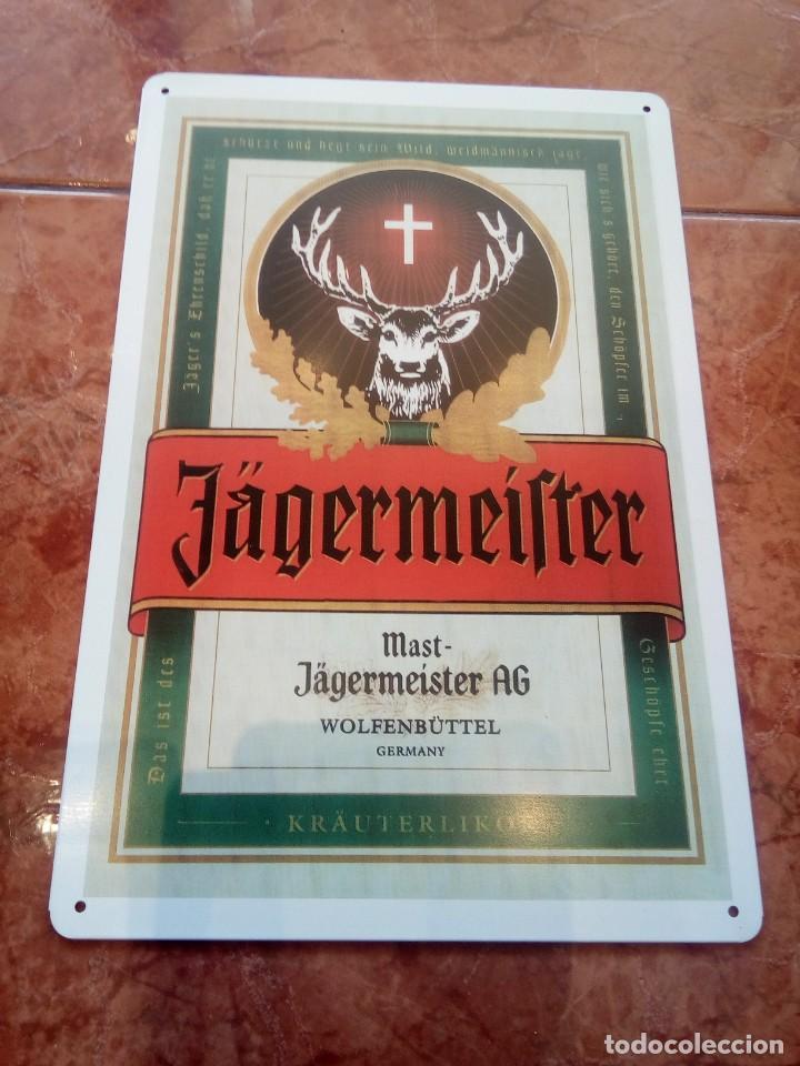 CHAPA METÁLICA DE JAGERMEISTER (Coleccionismo - Carteles y Chapas Esmaltadas y Litografiadas)