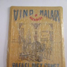 Carteles: VINO DE MALAGA LA ALCAZABA - CHAPA METALICA COLECCION ANUNCIOS DE TU VIDA 17,5X12,5 CM PRECINTADA. Lote 162098490