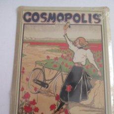 Carteles: COSMOPOLIS CYCLOS - CHAPA METALICA - 17,5X12,5 CM - PRECINTADA. Lote 162099310
