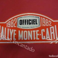 Carteles: CHAPA ORIGINAL RALLYE MONTE-CARLO 1982. 45 X 20,5 CTMS.. Lote 162364318