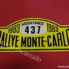 Carteles: CHAPA ORIGINAL RALLYE MONTE-CARLO 1983. 45 X 20,5 CTMS.. Lote 162364426