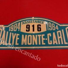 Carteles: CHAPA ORIGINAL RALLYE MONTE-CARLO 1984. 45 X 20,5 CTMS.. Lote 162364506