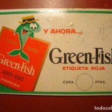 Carteles: GREEN FISH GINEBRA. Lote 162502414