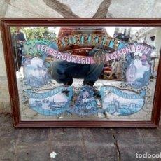 Carteles: ANTIGUO MARCO ESPEJO PUBLICIDAD CERVEZA HEINEKENS . Lote 162672962