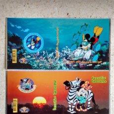 Carteles: LOTE DE LITOGRAFÍAS SOBRE CHAPA DE WALT DISNEY. Lote 162885426