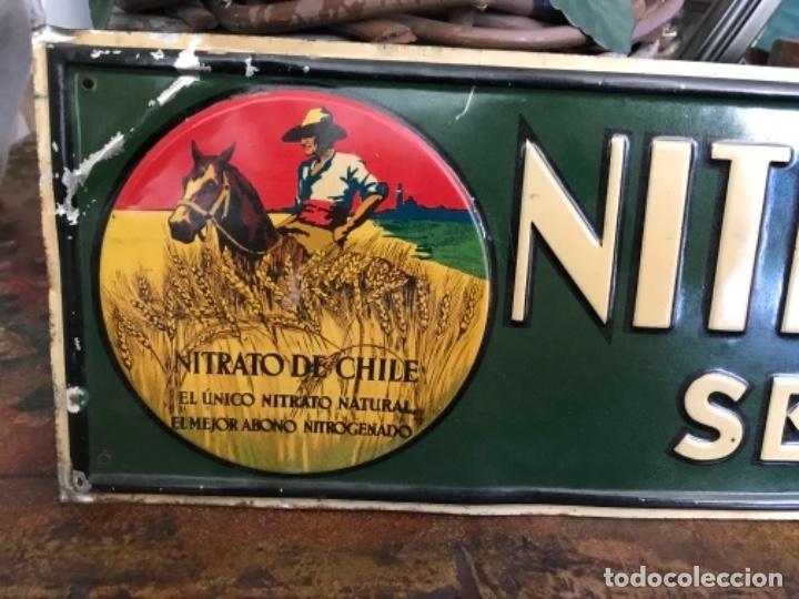 Chapa Nitrato De Chile. Se Vende Aquí (69,5x16,