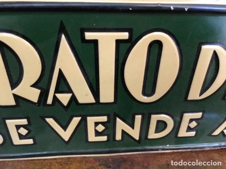 Carteles: Chapa Nitrato de Chile. Se vende Aquí (69,5X16,5 cms). Años 1930s. Muy rara. - Foto 10 - 111528375