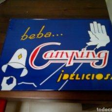 Carteles - Cartel chapa litografía gaseosa camping - 163753269