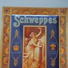 Cartazes: CHAPA CARTEL METÁLICO PUBLICITARIO. SCHWEPPES. MUJER VINTAGE RETRO PIN UP. 32X24CM 240 GR. Lote 163928562