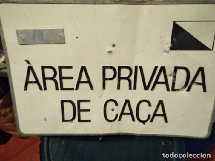 CHAPA AREA PRIVADA DE CAÇA (Coleccionismo - Carteles y Chapas Esmaltadas y Litografiadas)