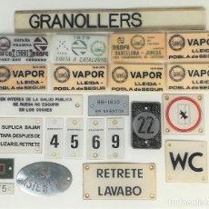 Carteles: FERROCARRIL. 23 PLACAS DE TRENES. DIFERENTES CONCEPTOS. RENFE. VARIOS AÑOS. ESPAÑA. Lote 165204066