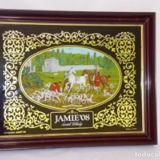 Carteles: CUADRO ESPEJO WHISKY JAMIE 08 VINTAGE. Lote 165761234