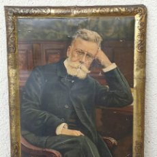 Carteles: ANTIGUO CARTEL (LETRERO) PUBLICITARIO HOMBRES CELEBRES GUIMERA DEL DR. ANDREU DE HOJALATA (LATA). Lote 165787902