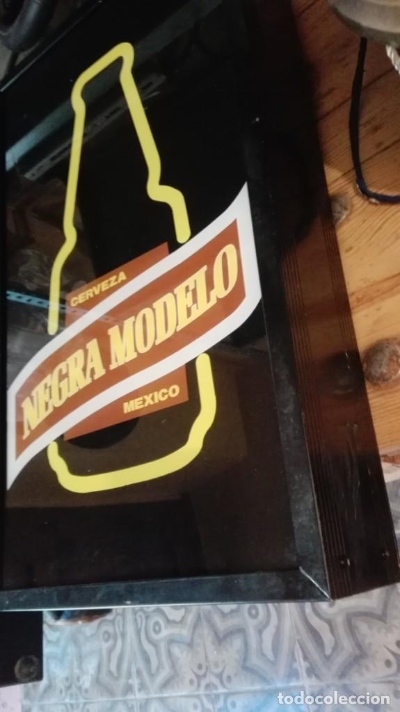 Carteles: letrero luminoso cerveza negra modelo mexico 50 cm x 30 cm x 9 cm - Foto 2 - 167108436