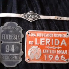 Carteles: LOTE DE 3 CHAPAS ARBITRIO.. Lote 167561114