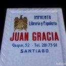 Carteles: IMPRENTA JUAN GRACIA, SANTIAGO. Lote 167854624