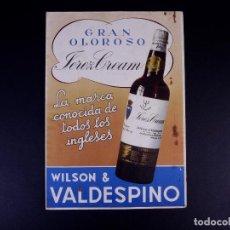 Carteles: JEREZ CREAM WILSON&VALDESPINO. Lote 167855284