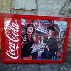 Carteles: CARTEL ENMARCADO PUBLICIDAD COCA COLA. Lote 168550121