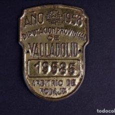 Carteles: TASA DE RODAJE 19585. VALLADOLID 1958. Lote 168609912