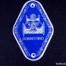 Carteles: CHAPA ESMALTADA DORMITORIO. Lote 168615308
