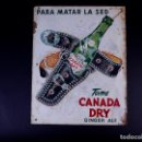 Carteles: CANADA DRY, GINGER ALE. Lote 168744300