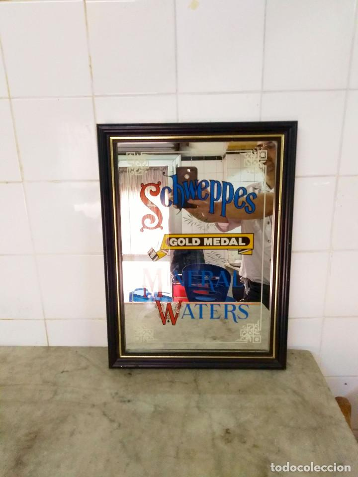 Carteles: SCHWEPPES - VINTAGE ESPEJO ESMALTADO MINERAL WATERS . GOLD MEDAL - Foto 4 - 169290880