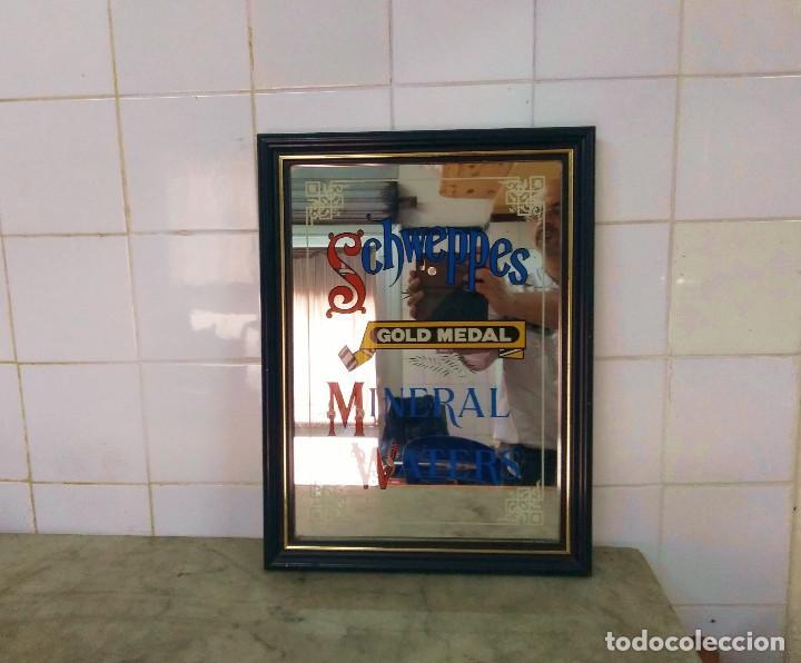 Carteles: SCHWEPPES - VINTAGE ESPEJO ESMALTADO MINERAL WATERS . GOLD MEDAL - Foto 2 - 169290880