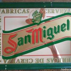 Carteles: ANTIGUO ESPEJO CERVEZA SAN MIGUEL. Lote 171203270