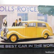 Carteles: ROLLS ROYCE HOJALATA TROQUELADA(RELIEVE.30X21CM. Lote 171448793
