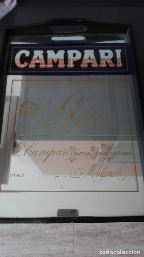BANDEJA PUBLICIDAD CAMPARI (Coleccionismo - Carteles y Chapas Esmaltadas y Litografiadas)