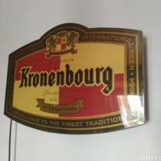 Carteles: PANEL LUMINOSO KRONENBOURG. Lote 171891278
