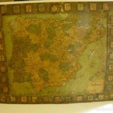 Carteles: ANTIGUO CARTEL DE ESPAÑA EN CHAPA - PUBLICIDAD DE SERVUS Y KAOL AÑO 1929. Lote 172576643