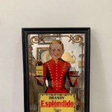 Carteles: ANTIGUO ESPEJO PUBLICIDAD BRANDY ESPLENDIDO GARVEY JEREZ - MEDIDA 50X34 CM. Lote 173959848