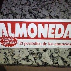 Carteles: PUBLICIDAD EN CHAPA DE ALMONEDA EL PERIODICO DE LOS ANUNCIOS. Lote 174096894