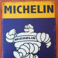 Carteles: CHAPA PLACA METAL MICHELIN TYRE SERVICES 20 X 30 DECORATIVA REPRO.. Lote 294031423