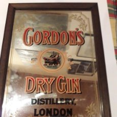 Carteles: CUADRO ESPEJO DE PUBLICIDAD GIN GORDON'S. Lote 175411828