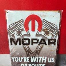 Carteles: ¡¡¡ CARTEL DE CHAPA - METAL MOPART MOTOR COCHES 20 X 30 CM NUEVO !!! . Lote 175414080