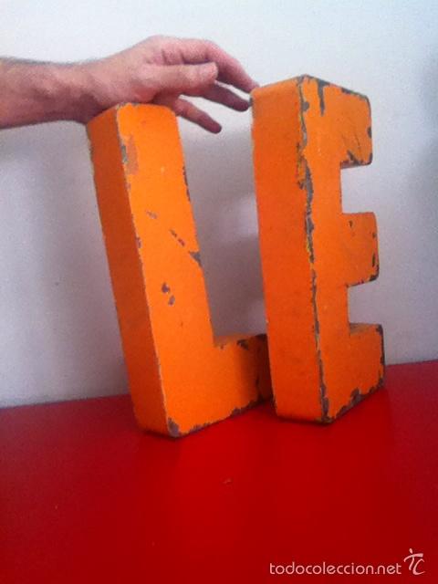 Carteles: LETRAS METAL ( ZINC) 30 x 15 cm. - Foto 2 - 175425817