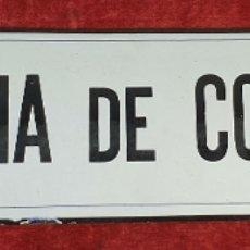 Carteles: PLACA DE METAL ESMALTADO. ESCRIBANIA DE CONDOMINAS. GRANDIN. SIGLO XX. . Lote 175655275