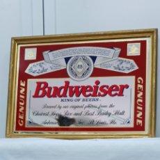 Carteles: ESPEJO LITOGRAFIADO BUDWAISER. Lote 176043243