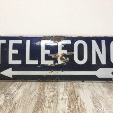 Carteles: CHAPA CARTEL TELEFONO ESMALTADA ORIGINAL. Lote 176376307