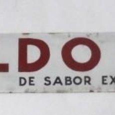 Carteles: CHAPA PUBLICITARIA. CALDO COCI. PLURIMA. VER FOTOS. MEDIDAS : 50 X 7 CM APROX.. Lote 176425700