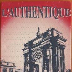 Carteles: CARTEL DE METAL L'AUTHENTIQUE ARC DE TRIOMPHE. Lote 176670745