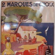 Carteles: CARTEL DE METAL 2 MARQUES DE CHOIX. Lote 176673703